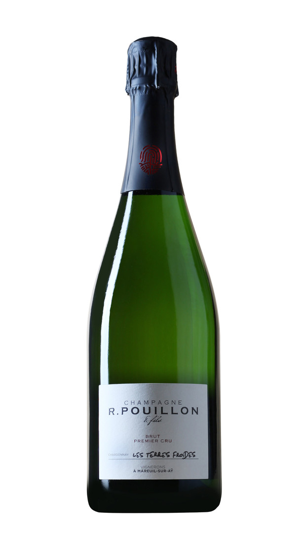 champagne extra brut blanc de blancs premier cru les terres froides roger pouillon 17838