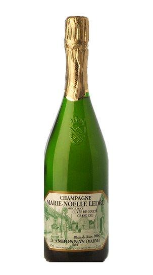champagne extra brut grand cru blanc de noirs cuvee goulte marie ledru 2013 13098